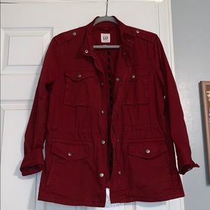 Gap Red Utility Jacket